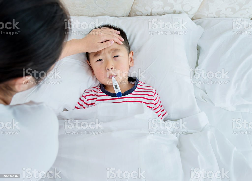 Checking fever stock photo