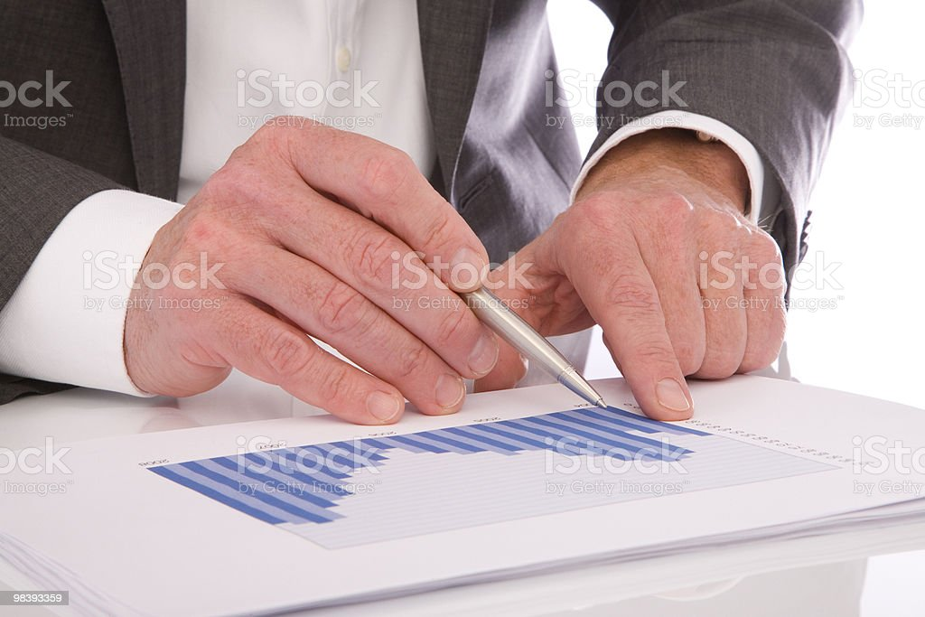Checking figures royalty-free stock photo