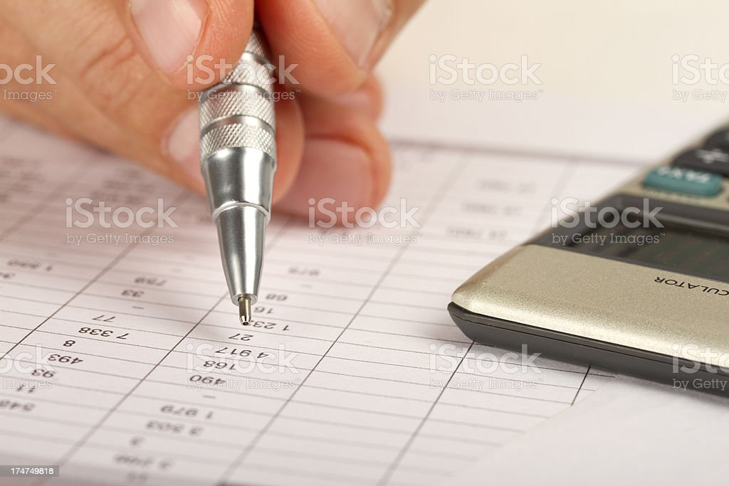 Checking finance analysis royalty-free stock photo