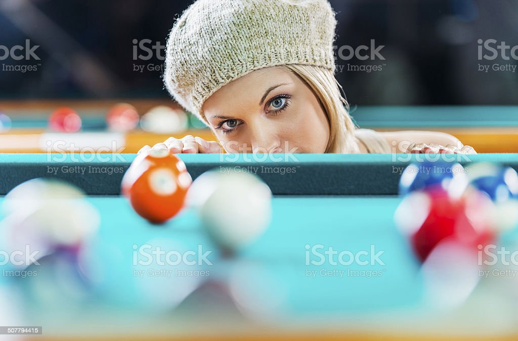 Checking for a shot. royalty-free stock photo