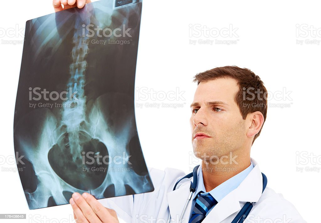 Checking for any breaks or fractures royalty-free stock photo