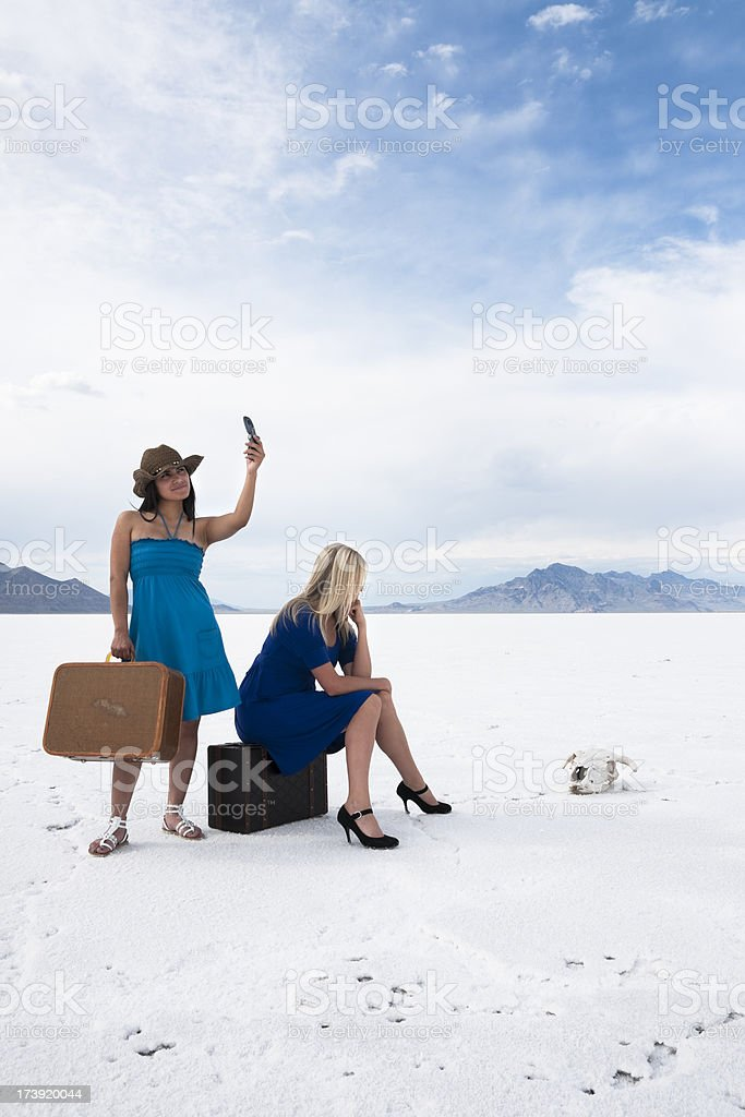 Checking for Cell Service royalty-free stock photo