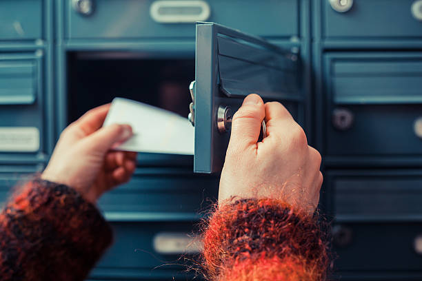 checking for mail - mail stock photos and pictures