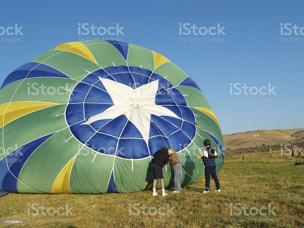 Checking For Problems - High Flyer royalty-free stock photo