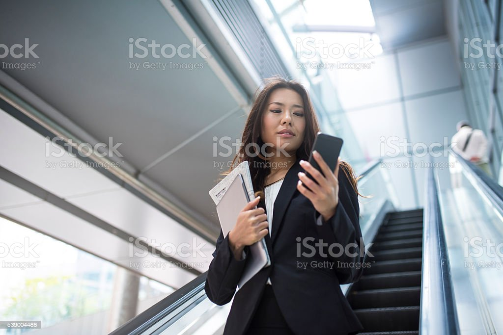 Checking for wifi networks stock photo