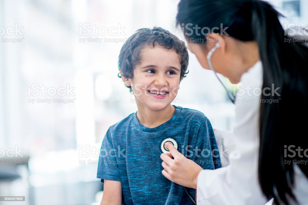 Checking Heart Rate stock photo