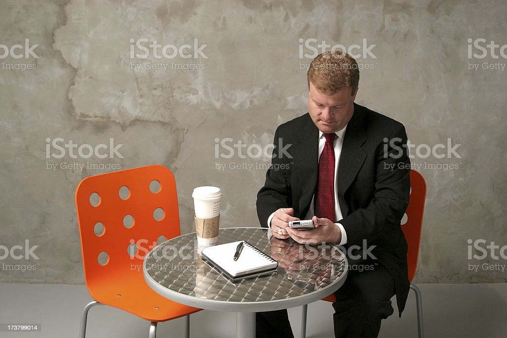 Checking in at the office. royalty-free stock photo