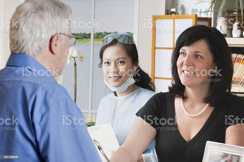 Checking In For A Dental Appointment royalty-free stock photo
