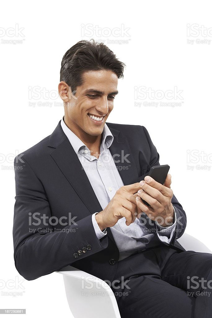 Checking in with clients royalty-free stock photo