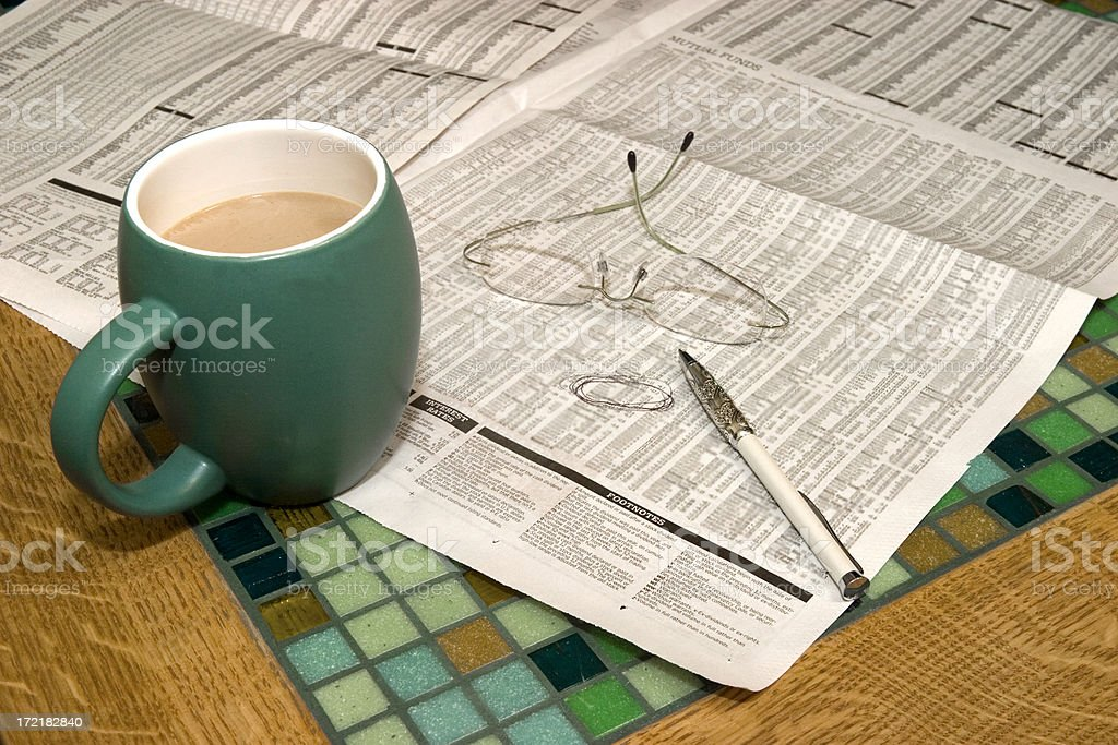 Checking Investments royalty-free stock photo