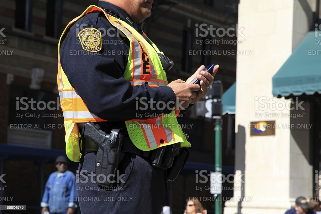Checking Messages stock photo