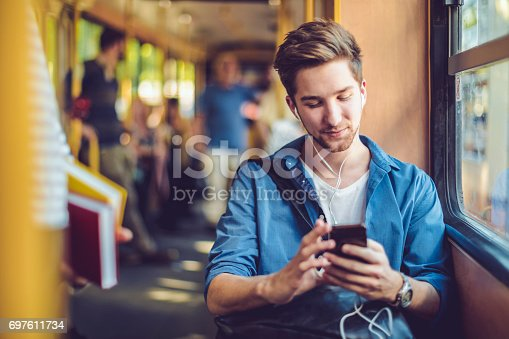 istock Checking messages 697611734