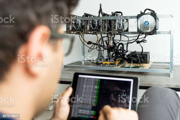 Checking Mining Performance Stock Photo - Download Image Now