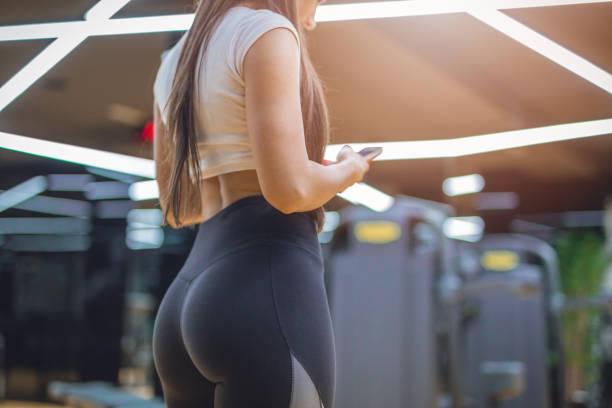 Checking my fitness tracker stock photo