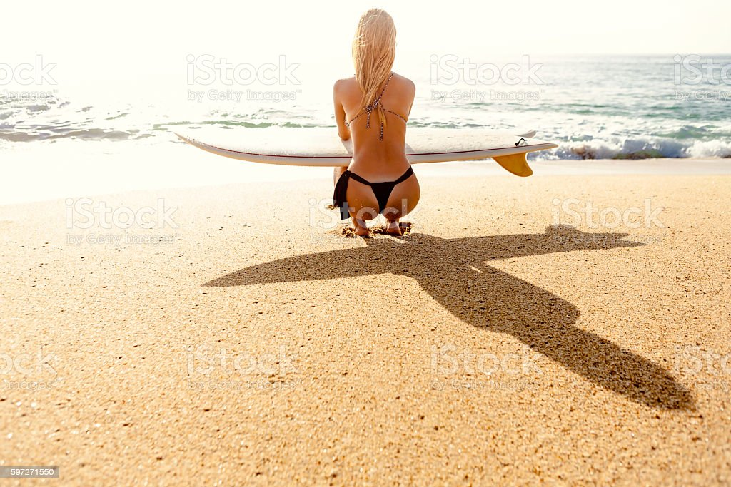 Checking out the waves royalty-free stock photo