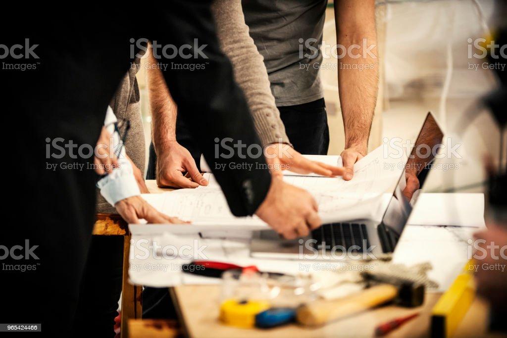 진행 확인 - 로열티 프리 건설 산업 스톡 사진