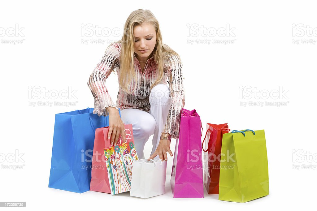 Checking Purchases royalty-free stock photo