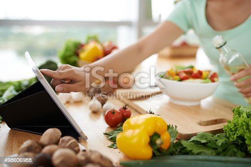 istock Checking recipe 498606988