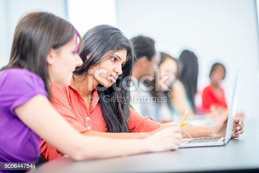 istock Checking Research for Their Project 505644754