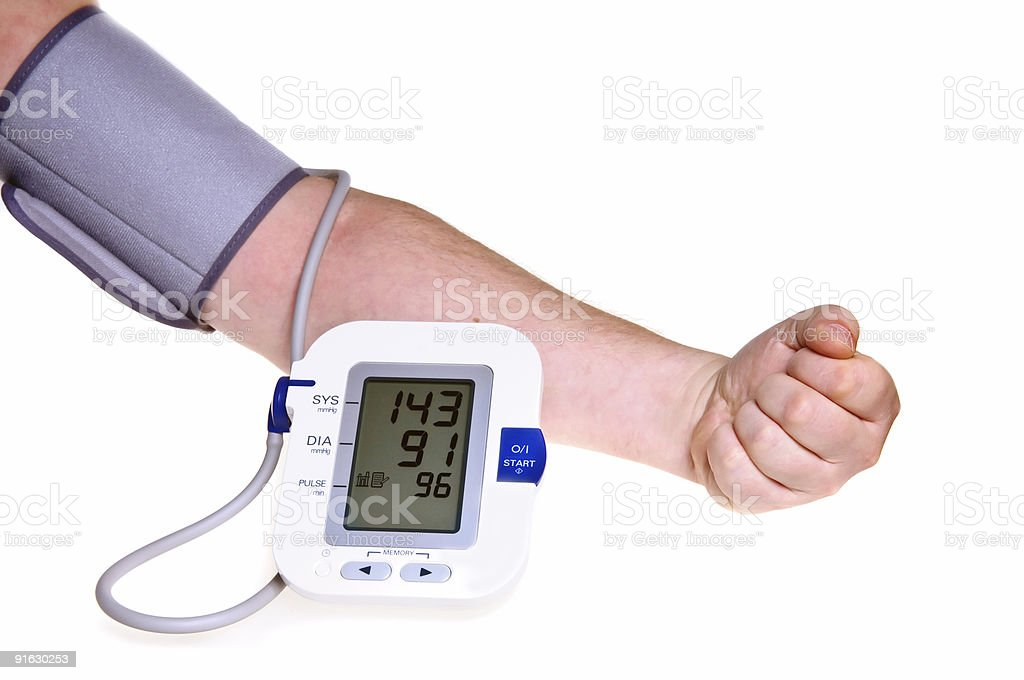Checking the blood pressure royalty-free stock photo
