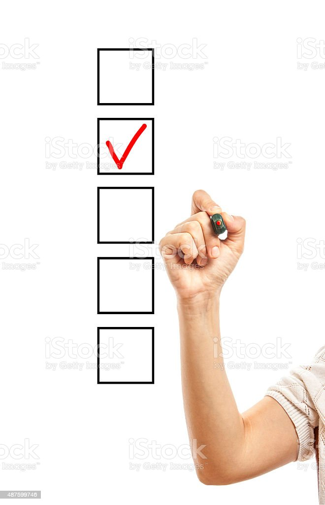 Checking The Checklist stock photo