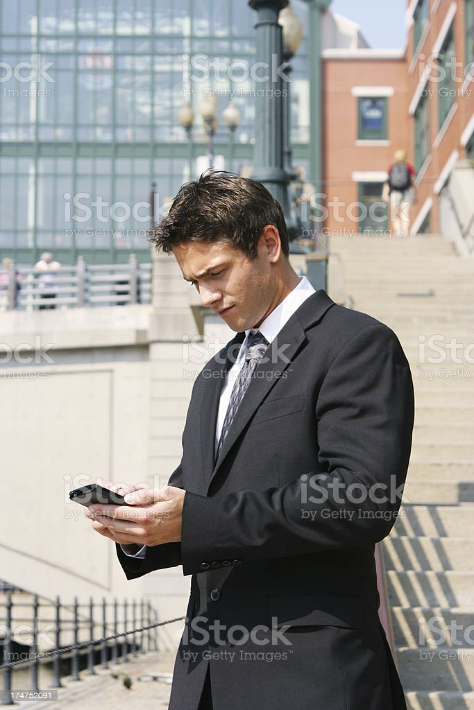 Checking the latest charts royalty-free stock photo