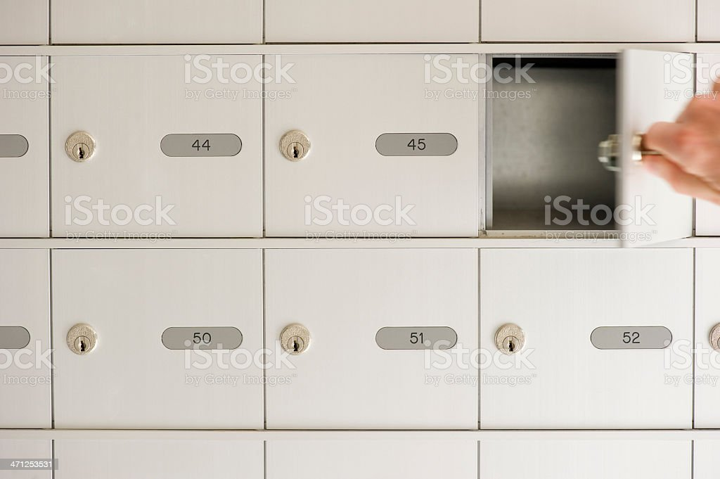 Checking the mail stock photo