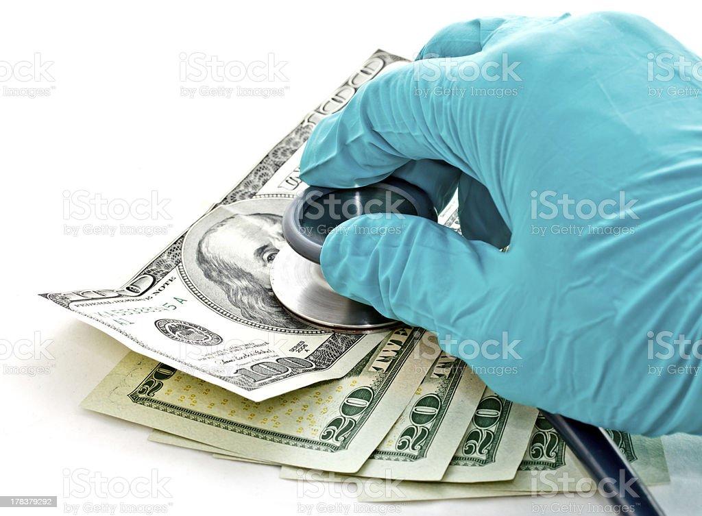 checking the money's health stock photo