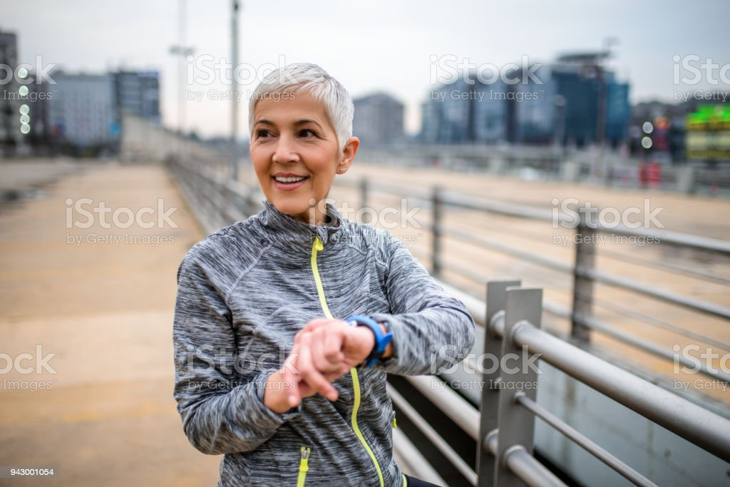 Checking the pulse. stock photo