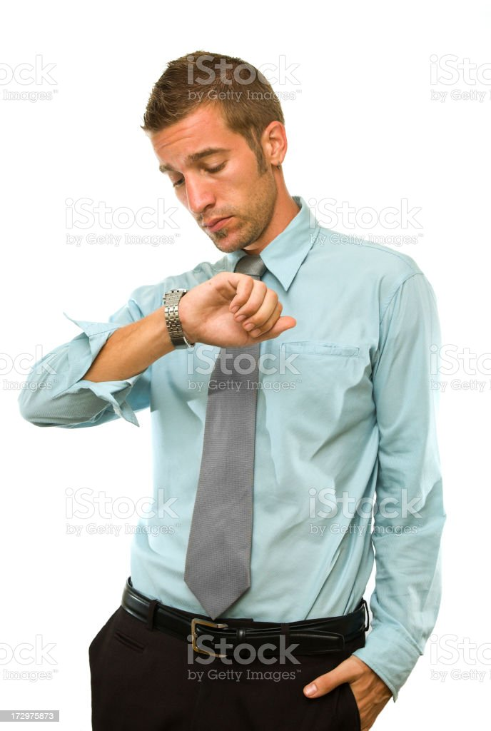 checking the time royalty-free stock photo