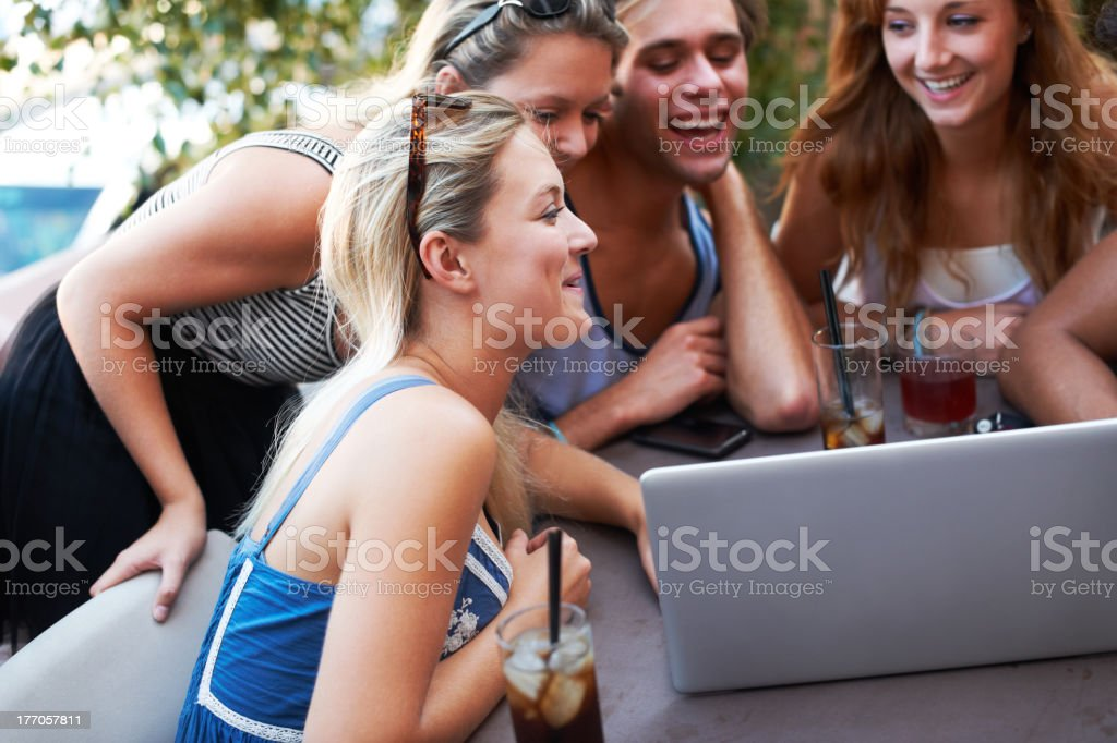 Checking their social networking profiles royalty-free stock photo