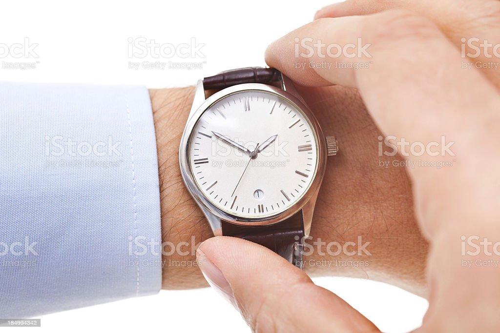 Checking Time stock photo