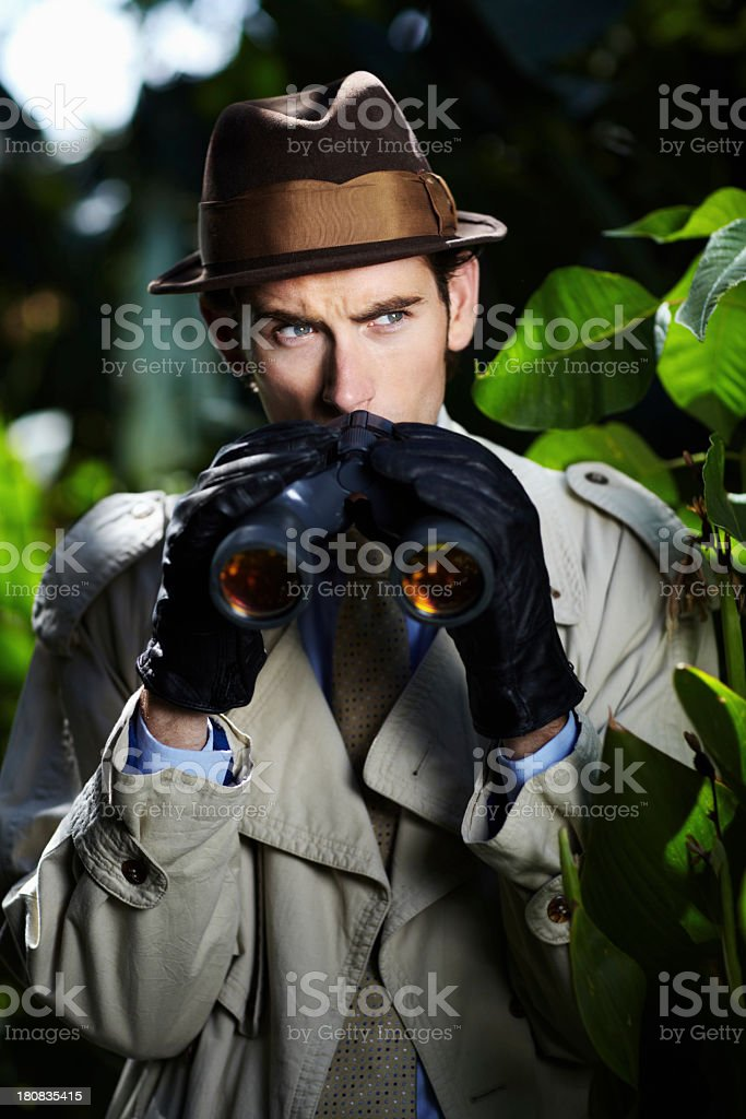 Checking up on you... stock photo