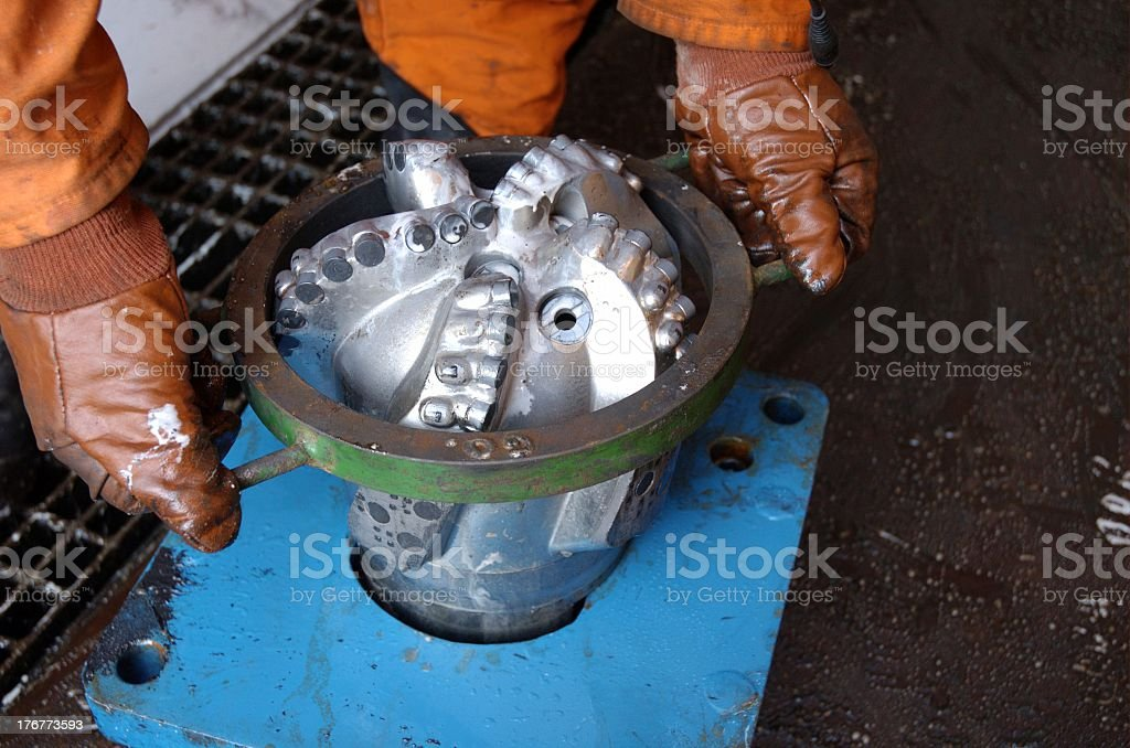 Checking wether the bit is in gage royalty-free stock photo