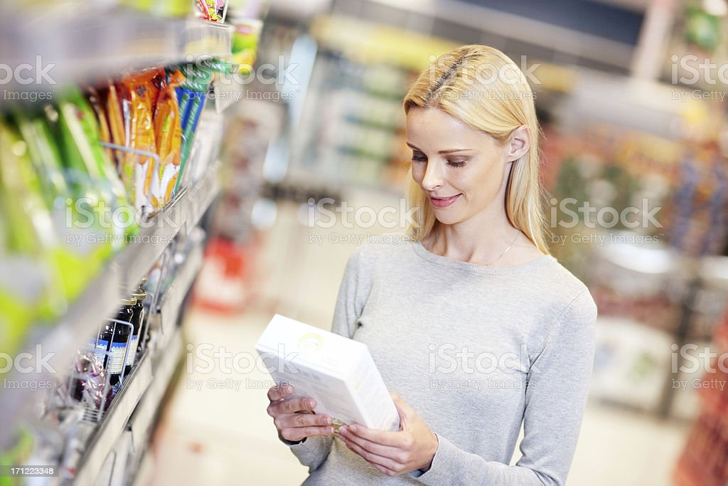 Checking what's inside stock photo