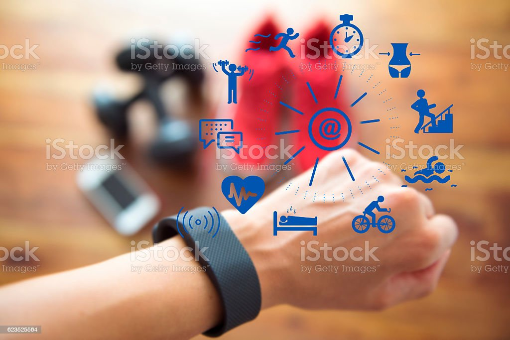 Checking Your Activity Status stock photo