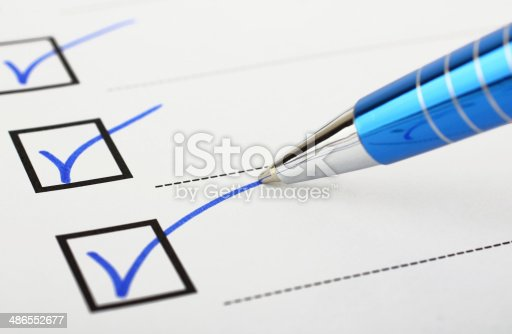 istock Checklist and pen 486552677
