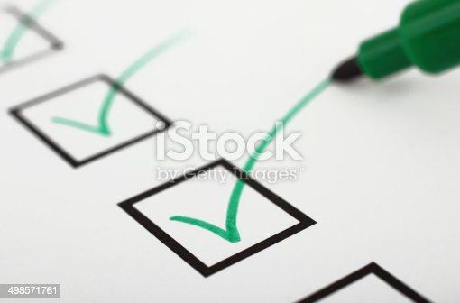 istock Checklist and pen 498571761