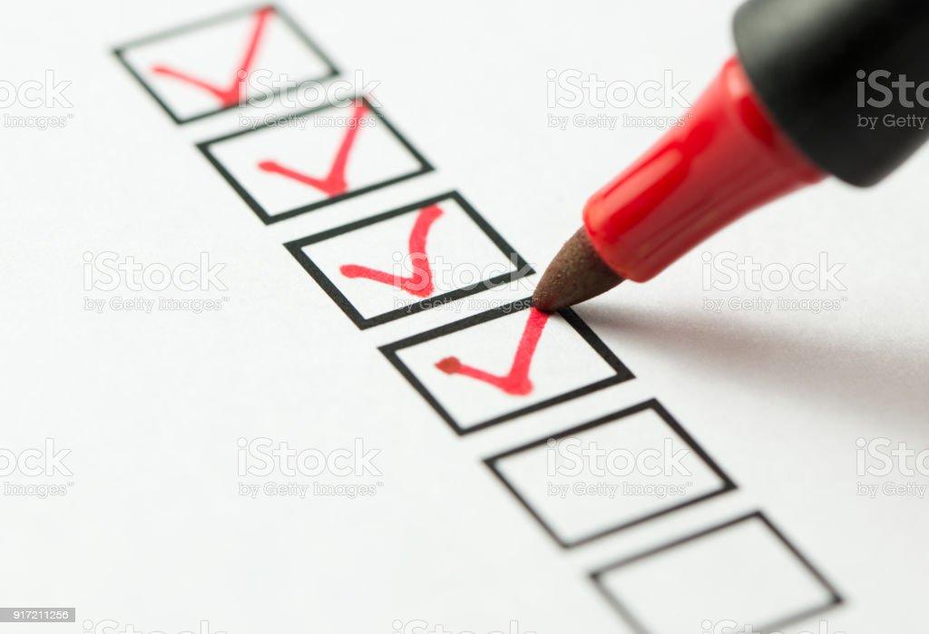 Checklist box stock photo