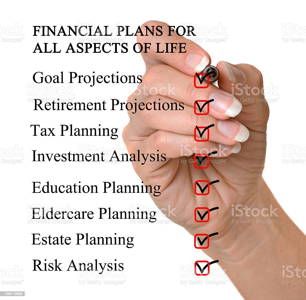 Checklist for financial plans royalty-free stock photo