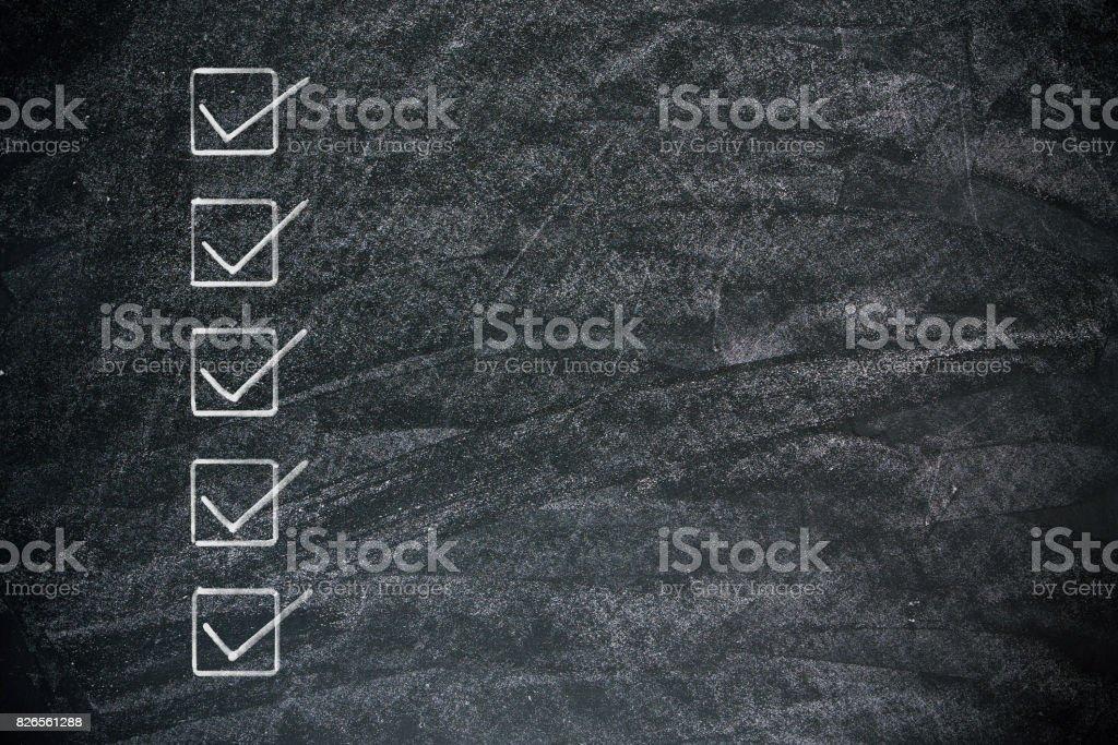 Checkliste zur Tafel Hintergrund strukturiert – Foto