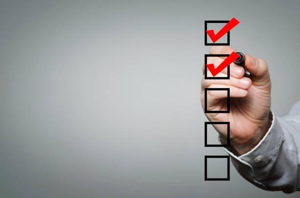 checklist - to do list foto e immagini stock