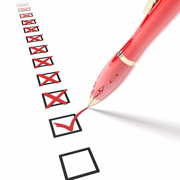 Checklist stock photo