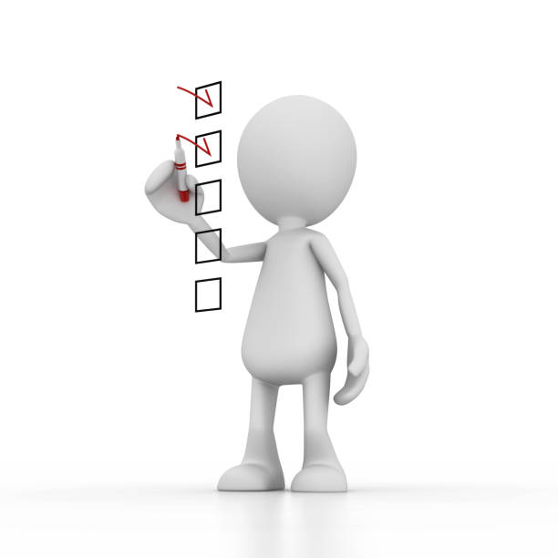 checklist - stick figure stock photos and pictures
