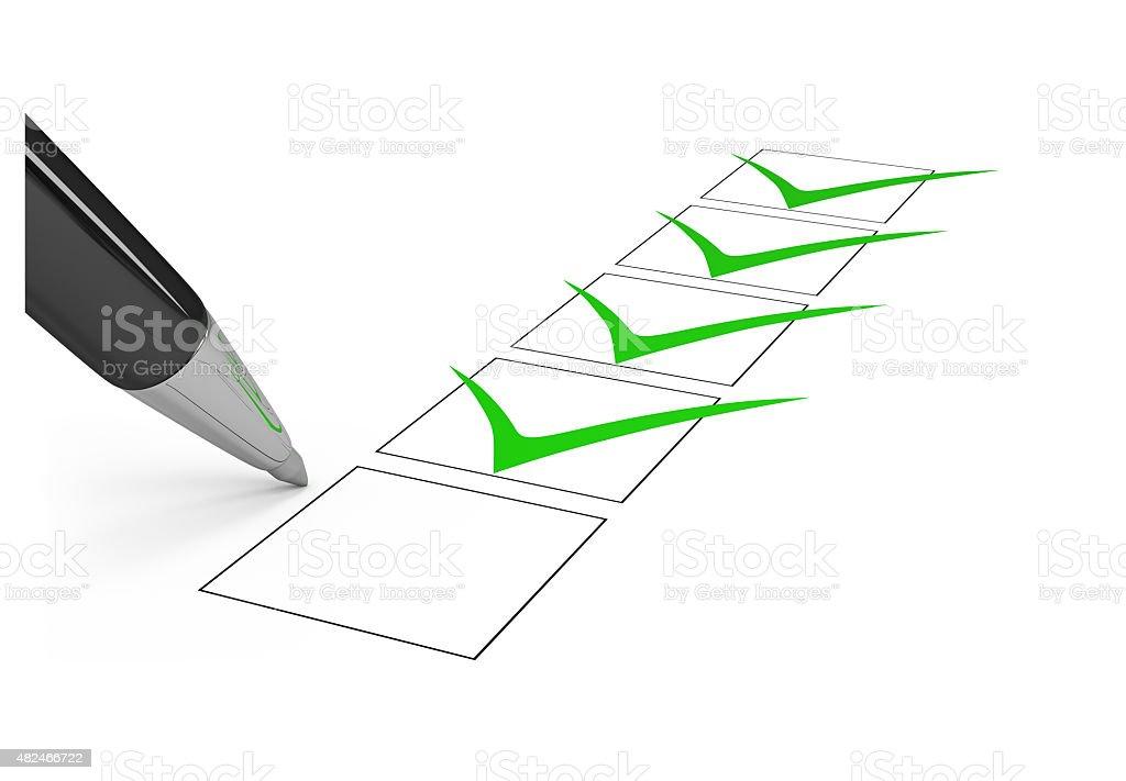 Checklist. stock photo