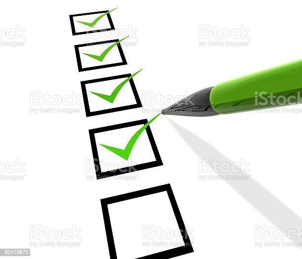 Checkliste Stockfoto und mehr Bilder von Checkliste