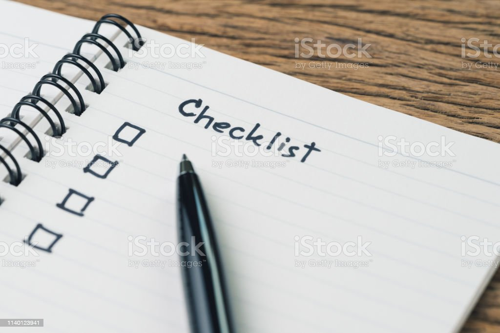 Checklist, to do list, prioritize or reminder for project plan,...