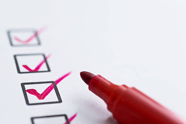 checklist with check mark - list stock photos and pictures
