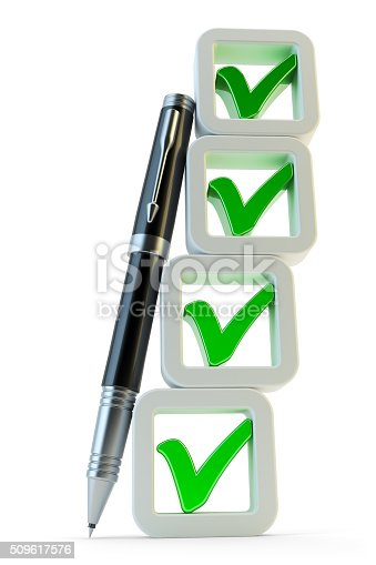 istock Checklist with checkboxes icon 509617576