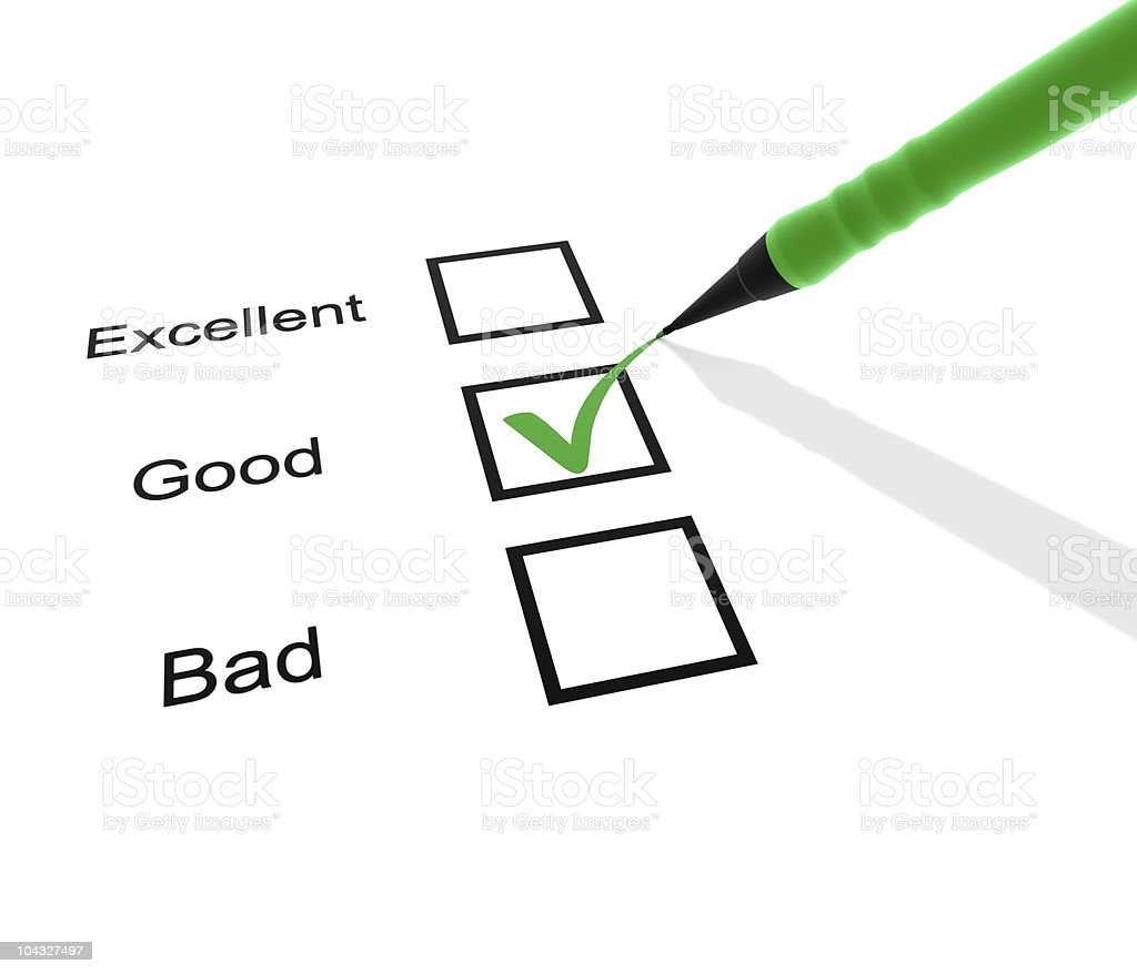 Checklist with green pen on it royalty-free stock photo